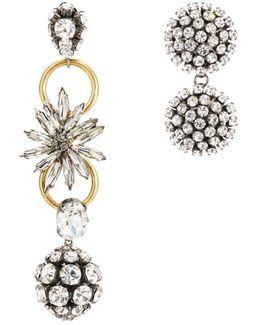 Asymmetrical Earrings With Strass