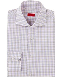 Checked Cotton Poplin Dress Shirt
