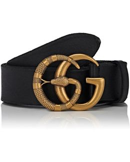 Gg Buckle Leather Belt