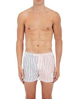 Striped Cotton Poplin Boxers