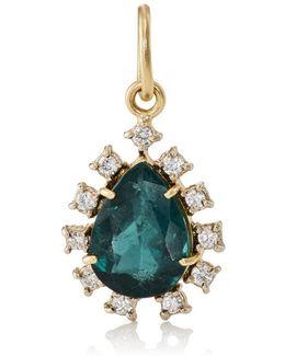 Tourmaline & Diamond Teardrop Pendant
