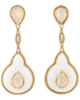 droplets On Stone Earrings