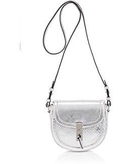 Ghianda Python Mini Saddle Bag