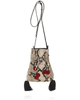 Ghianda Python Bucket Bag