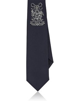 coat Of Arms Embroidered Necktie