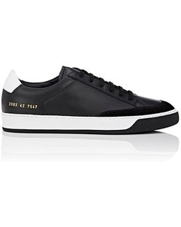Tennis Pro Leather & Suede Sneakers