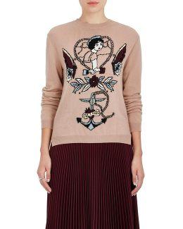 Tattoo-intarsia Virgin Wool
