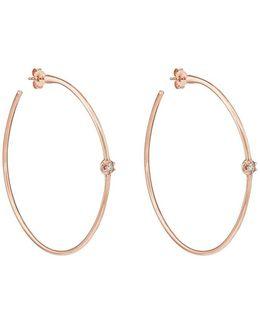 Rosette Hoop Earrings