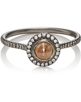 Opaque Brown Diamond Ring