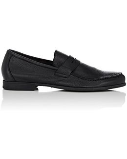 James Grained Leather Penny Loafers