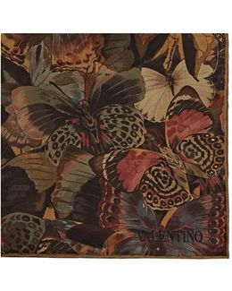 Camubutterfly Silk Pocket Square