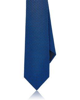 Checked Silk Foulard Necktie