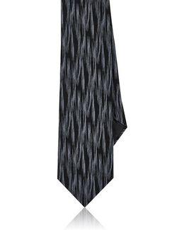 Striated Silk Jacquard Necktie
