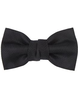 Crosshatch Silk Jaquard Bow Tie