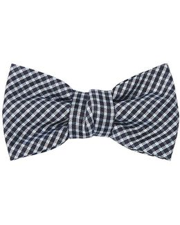 Checked Silk Bow Tie