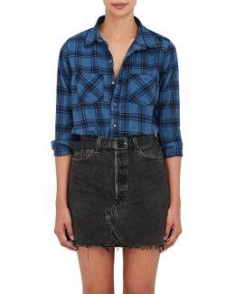 Kimberly Plaid Cotton Flannel Shirt