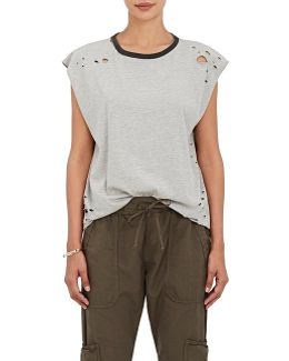 Harley Distressed Cotton Muscle T
