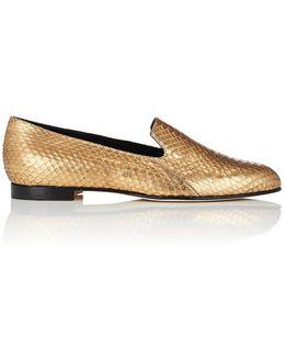 Diplas Metallic Snakeskin Loafers