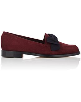 Aldena Bow Suede Loafers
