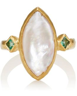 Pearl & Emerald Ring