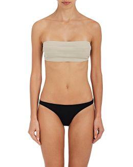 Michelle Striped Bandeau Bikini Top