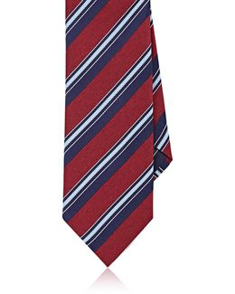 Striped Silk Twill Necktie