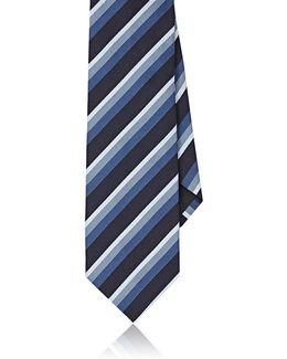 Diagonal Striped Silk Necktie