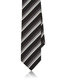 Striped Silk Faille Necktie