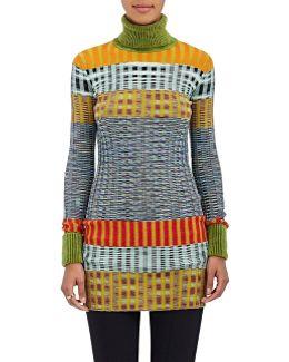 Striped Wool-blend Rib