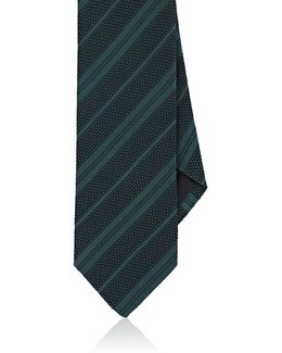 Striped Silk Grenadine Necktie
