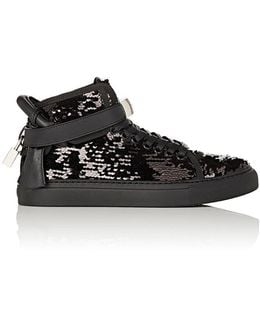100mm Leather Sneakers