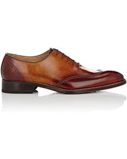 Stitched Leather Wingtip Balmorals