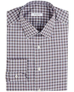 Checked Cotton Dress Shirt