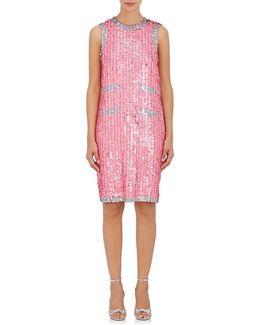Sequined Sleeveless Shift Dress