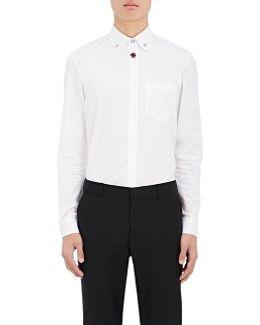 Embellished Cotton Poplin Shirt
