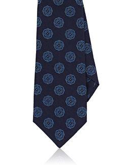 Medallion-pattern Silk