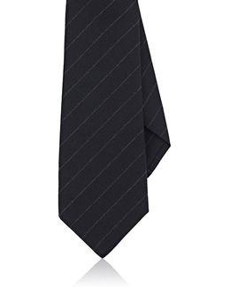 Chalk-striped Wool Necktie