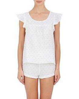 Linen Fil Coupé Pajama Set