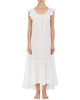Cotton Fil Coupé Long Nightgown