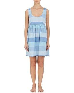 Striped Cotton Nightgown