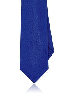 Striped Silk Jacquard Necktie
