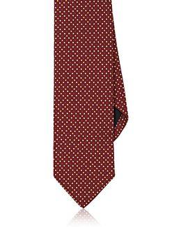 Polka Dot Silk Faille Necktie