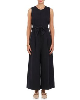 Cunningham Twill Belted Jumpsuit