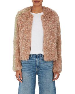 Iris Rabbit Fur Crop Jacket