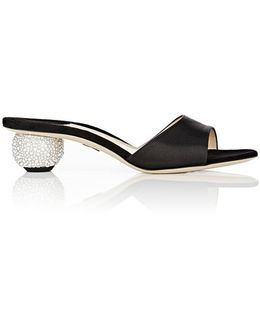 Arco Satin Slide Sandals