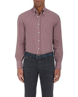 Checked Cotton Twill Shirt