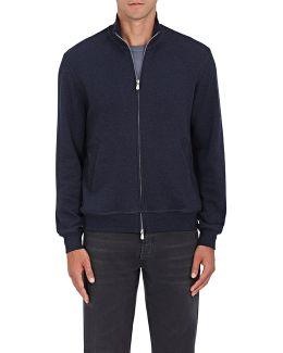 Cotton-blend Jersey Zip