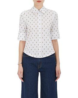 Flocked Cotton Poplin Shirt