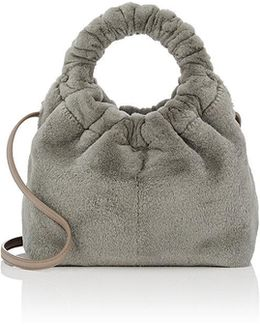Circle Mink Fur Small Bag