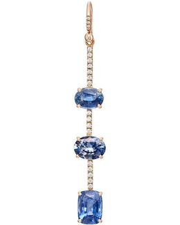 Diamond & Sapphire Drop Earring